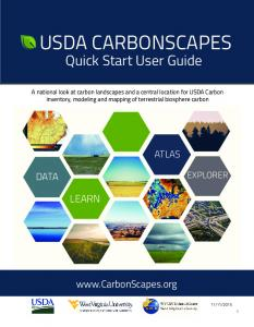 USDA CARBONSCAPES. Quick Start User Guide LEARN DATA.  ATLAS EXPLORER
