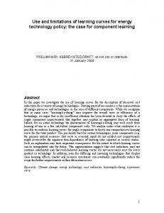 Use and limitations of learning curves for energy technology policy: the case for component learning