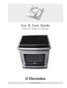 Use & Care Guide. Electric Slide-In Range (1012) Rev. B