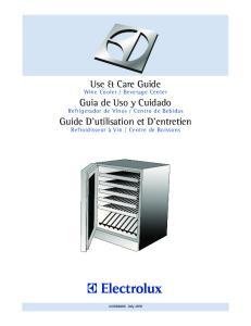 Use & Care Guide. Guia de Uso y Cuidado. Guide D utilisation et D entretien