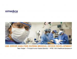 USE ERROR ANALYSIS DURING MEDICAL DEVICE DEVELOPMENT