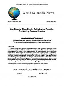 Use Genetic Algorithm in Optimization Function For Solving Queens Problem