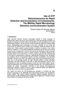 Use of ATP Bioluminescence for Rapid Detection and Enumeration of Contaminants: The Milliflex Rapid Microbiology Detection and Enumeration System