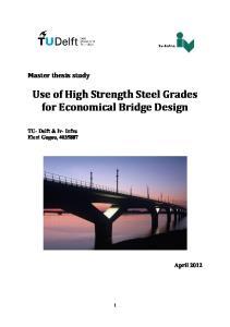 Use of High Strength Steel Grades for Economical Bridge Design