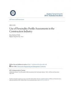 Use of Personality Profile Assessments in the Construction Industry