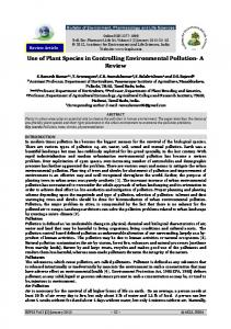Use of Plant Species in Controlling Environmental Pollution- A Review