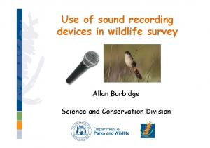 Use of sound recording devices in wildlife survey
