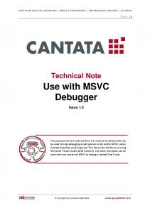 Use with MSVC Debugger