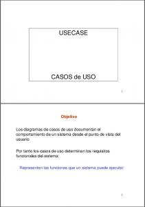USECASE. CASOS de USO