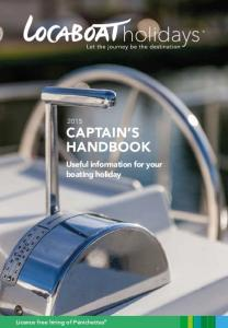 Useful information for your boating holiday