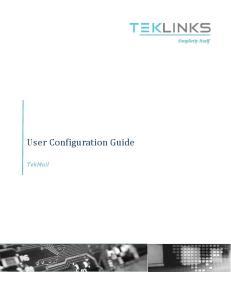 User Configuration Guide