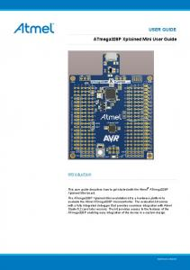USER GUIDE. ATmega328P Xplained Mini User Guide. Introduction