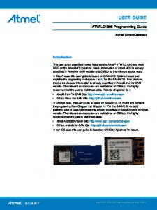 USER GUIDE. ATWILC1000 Programming Guide. Atmel SmartConnect. Introduction
