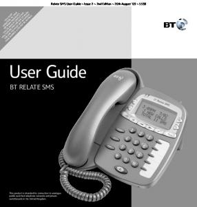 User Guide BT RELATE SMS
