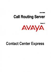 User Guide. Call Routing Server. Release 5.0