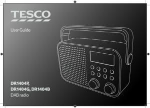 User Guide. DR1404P, DR1404G, DR1404B DAB radio