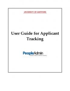 User Guide for Applicant Tracking