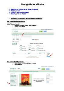 User guide for ebooks