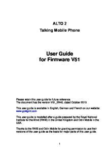 User Guide for Firmware V51