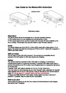 User Guide for the Mobius Mini ActionCam