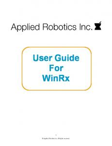 User Guide For WinRx