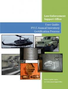 User Guide: FY15 Annual Inventory Certification Process