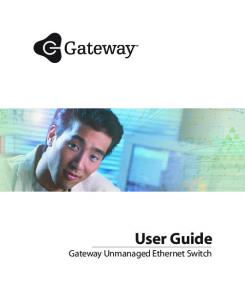 User Guide Gateway Unmanaged Ethernet Switch