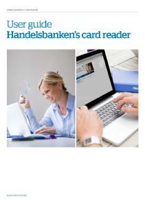 User guide Handelsbanken s card reader