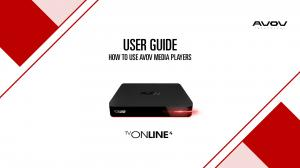USER GUIDE HOW TO USE AVOV MEDIA PLAYERS