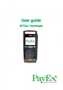 User guide. ict2xx Terminals