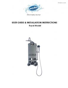 USER GUIDE & INSTALLATION INSTRUCTIONS