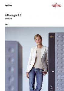 User Guide. iomanager 2.3. User Guide. English