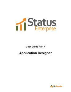 User Guide Part 4. Application Designer