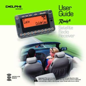 User Guide. Satellite Radio Receiver SA10085