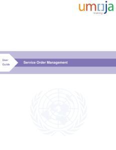 User Guide. Service Order Management