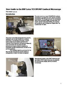 User Guide to the IBIF Leica TCS SP8 MP Confocal Microscope