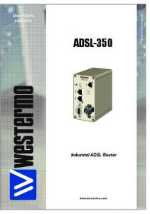 User Guide. Westermo Teleindustri AB ADSL-350. Industrial ADSL Router