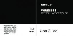User Guide WIRELESS OPTICAL LAPTOP MOUSE N2953