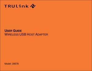 USER GUIDE WIRELESS USB HOST ADAPTER. Model: