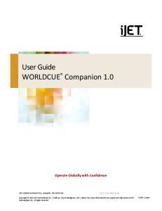 User Guide WORLDCUE Companion 1.0