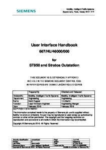 User Interface Handbook