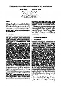 User Interface Requirements for Authentication of Communication