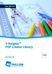 User Manual. 3-Heights PDF Creator Library. Version 4.8