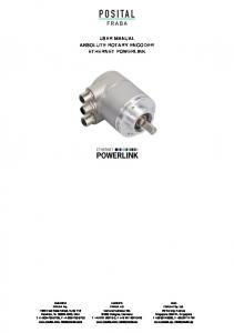 USER MANUAL ABSOLUTE ROTARY ENCODER ETHERNET POWERLINK