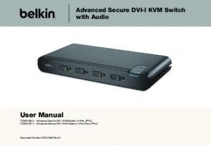 User Manual. Advanced Secure DVI-I KVM Switch with Audio