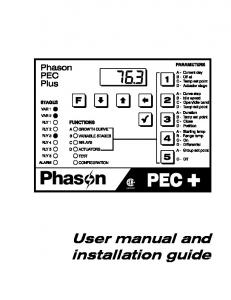 User manual and installation guide