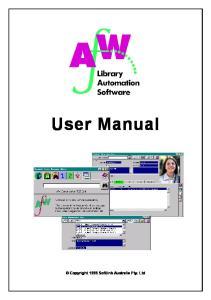 User Manual Copyright 1999 Softlink Australia Pty. Ltd