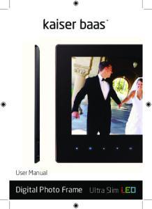 User Manual. Digital Photo Frame. Ultra Slim LED
