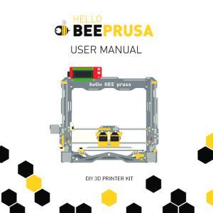 USER MANUAL DIY 3D PRINTER KIT