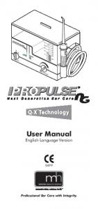 User Manual. English Language Version. Professional Ear Care with Integrity